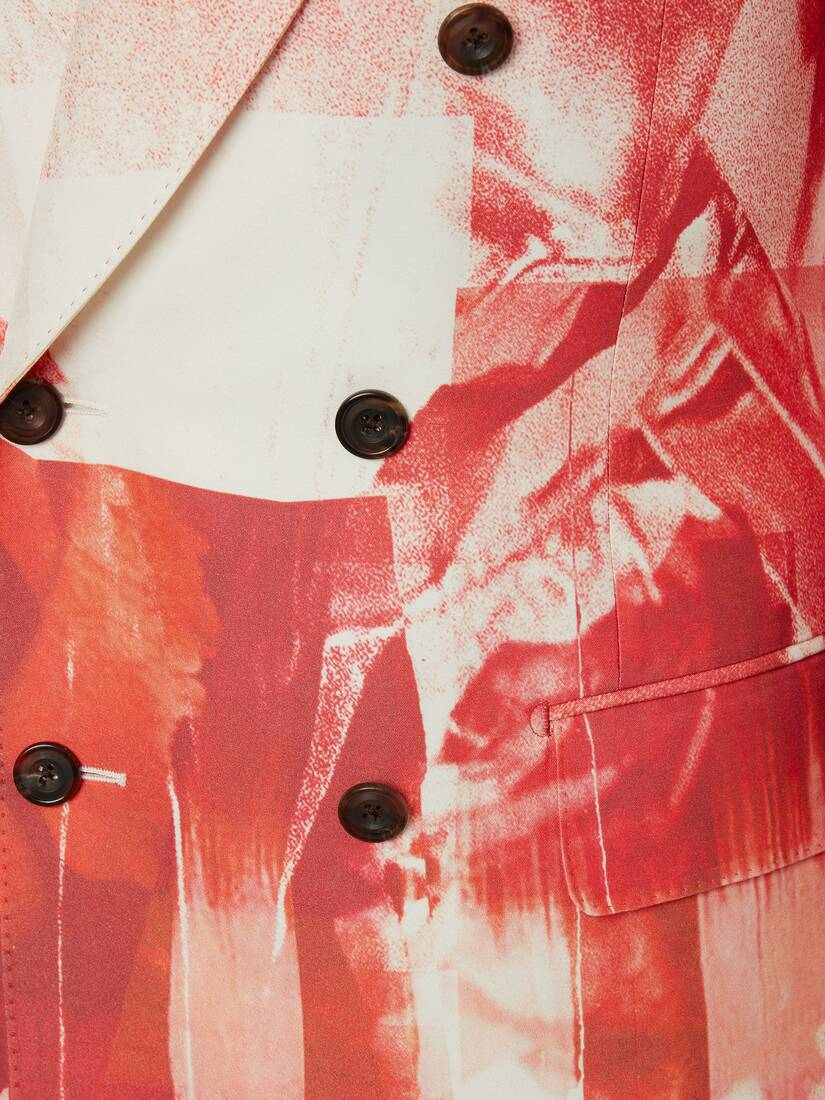 Trompe-l'œil Double-Breasted Printed Jacket