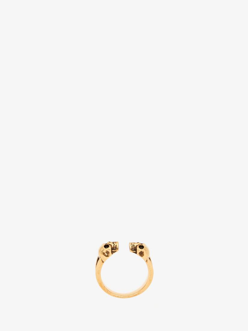 Display a large version of the product image 1 - Twin Skull Ring