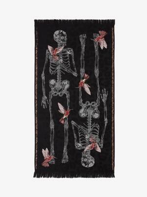 Scialle Skeleton Colibrì