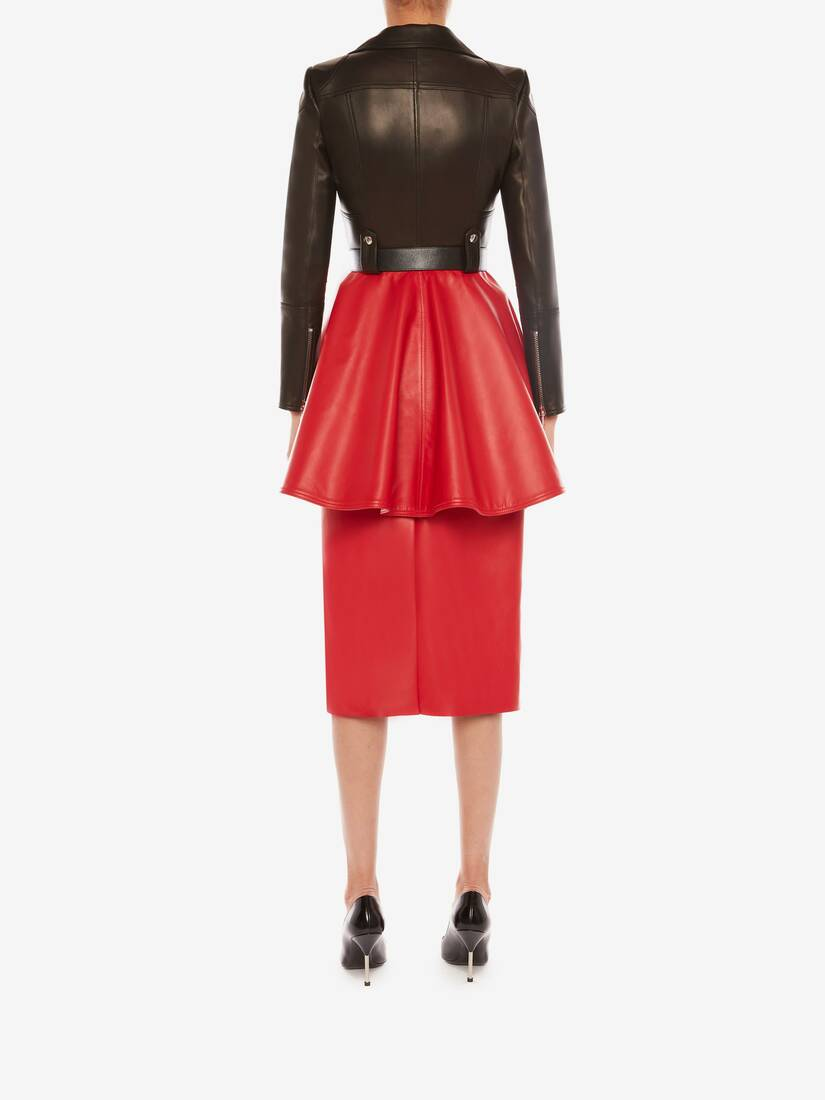 Display a large version of the product image 4 - Leather Pencil Skirt
