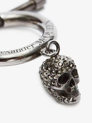 Skull Hoop Earring