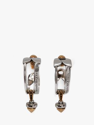 Safety Pin and Stud Hoop Earrings