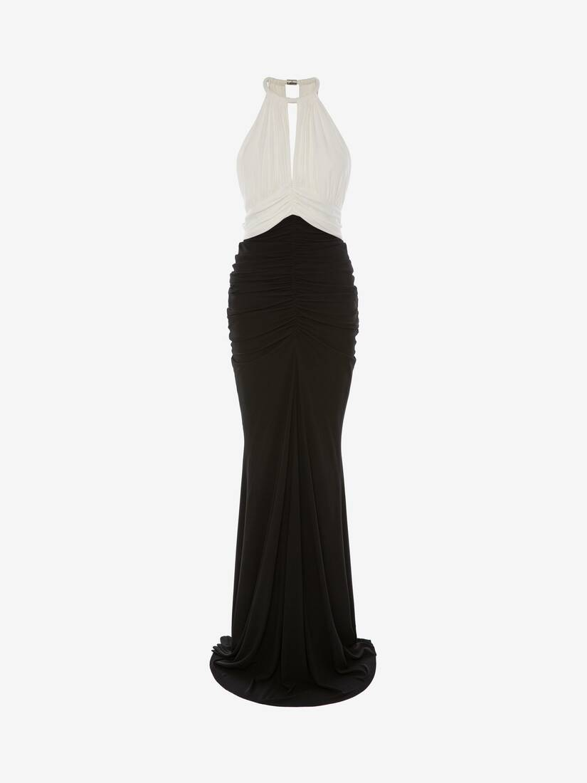 Display a large version of the product image 1 - Halter neck Evening Dress