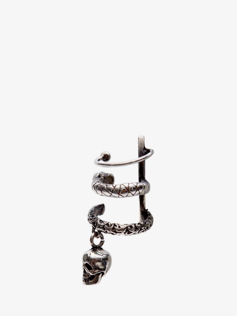 Display a large version of the product image 2 - Skull and Snake Ear Cuff