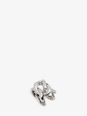 Chain and Skull Ring