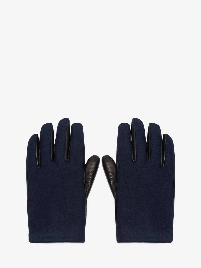 Display a large version of the product image 1 - Woven Felt Leather Gloves