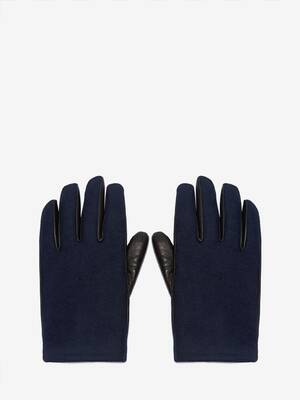 Woven Felt Leather Gloves