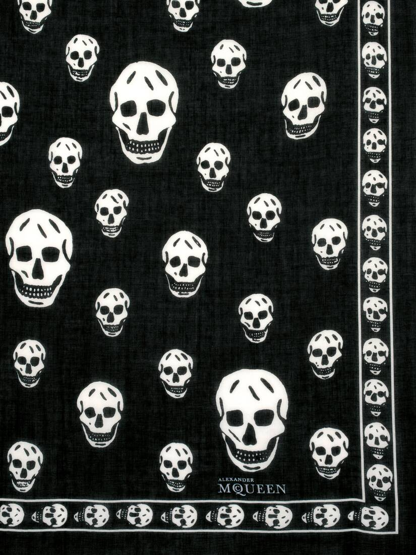 Display a large version of the product image 3 - CLASSIC SKULL CASHMERE SCARF