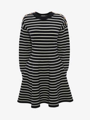 Stripe Knit Mini Dress
