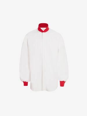 Dropped Shoulder Poplin Bomber Shirt