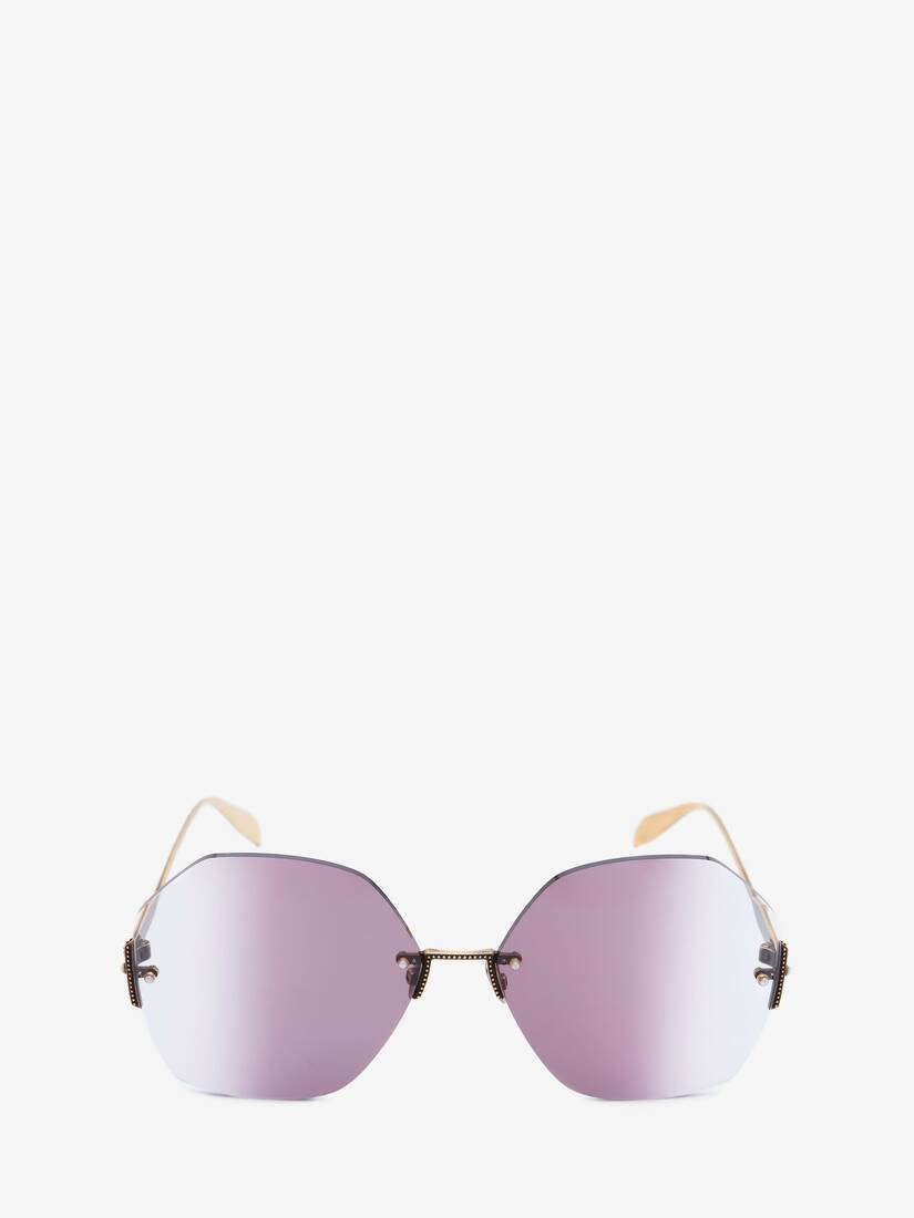 Display a large version of the product image 1 - Jeweled Hexagonal Sunglasses