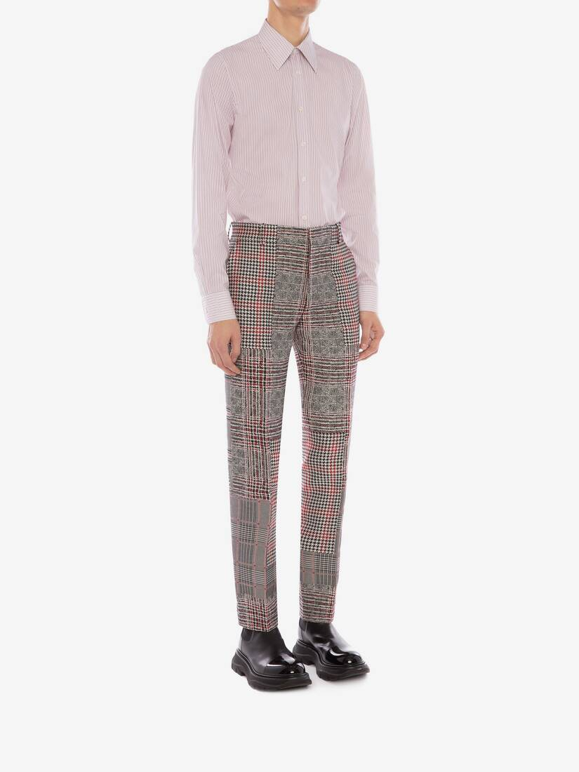 Display a large version of the product image 4 - Patchwork Prince of Wales Trousers