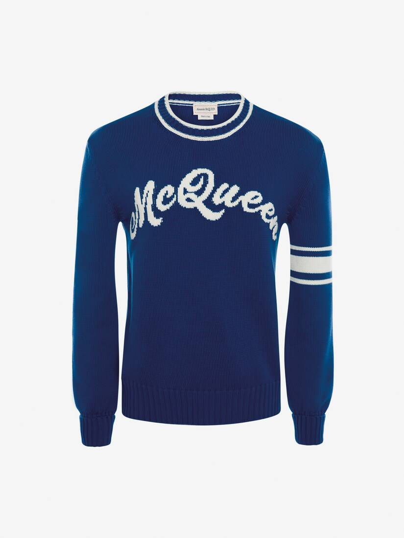 Display a large version of the product image 1 - McQueen Intarsia Crew Neck Jumper