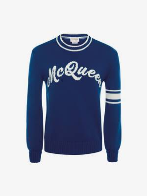 McQueen Intarsia Crew Neck Jumper