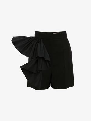 Ruffle Wool Shorts