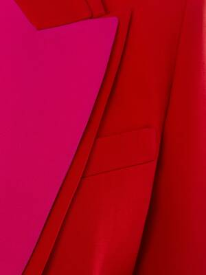 Double Lapel Light Wool Silk Jacket