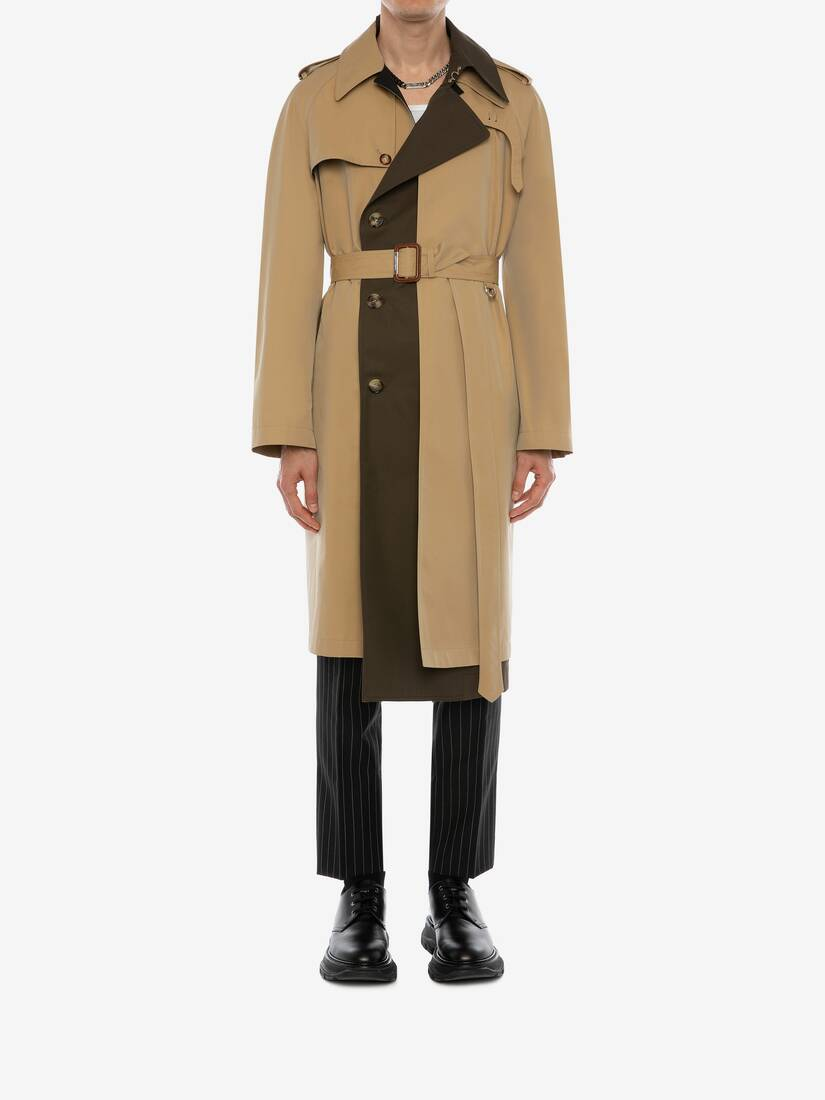 Display a large version of the product image 2 - Trompe-l'œil Layered Trench Coat