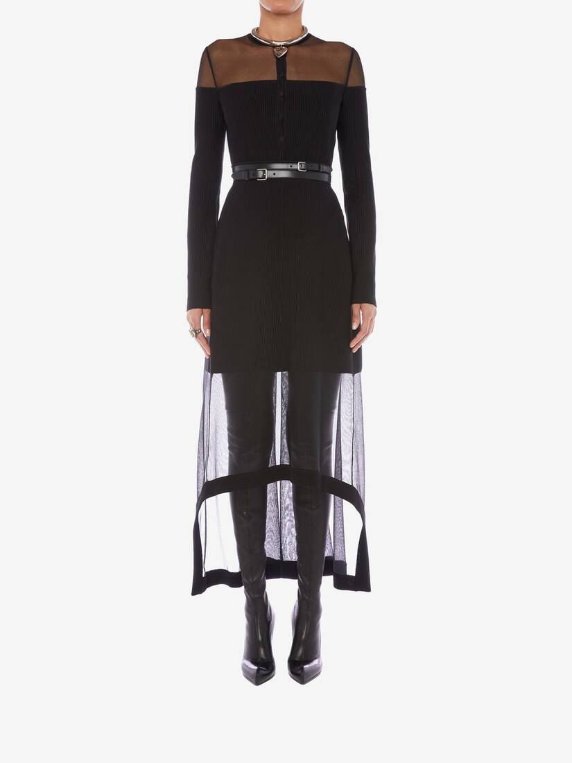 Display a large version of the product image 2 - Engineered Ribbed Knit Midi Skirt