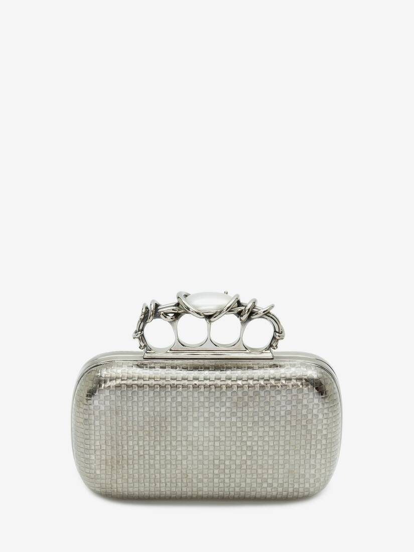 Display a large version of the product image 3 - Woven Four-Ring Box Clutch