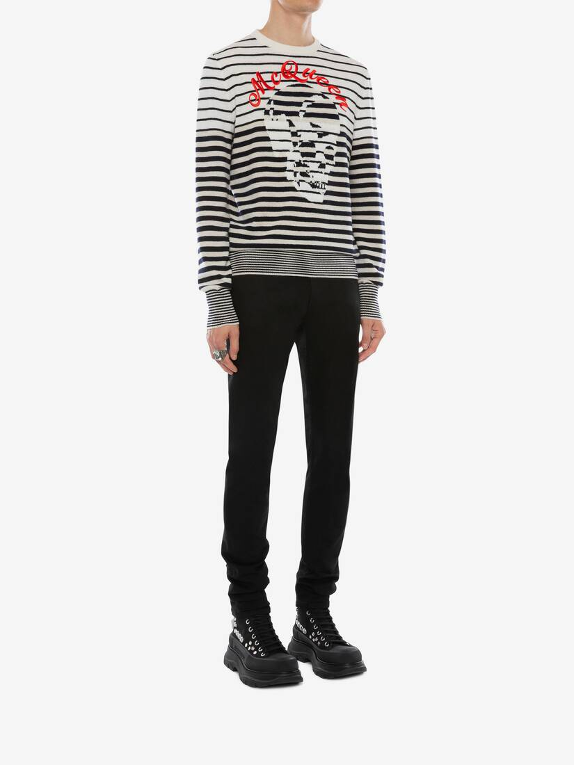 Display a large version of the product image 3 - Stripe Skull Sweater