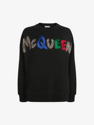 Sweat-shirt brodé McQueen