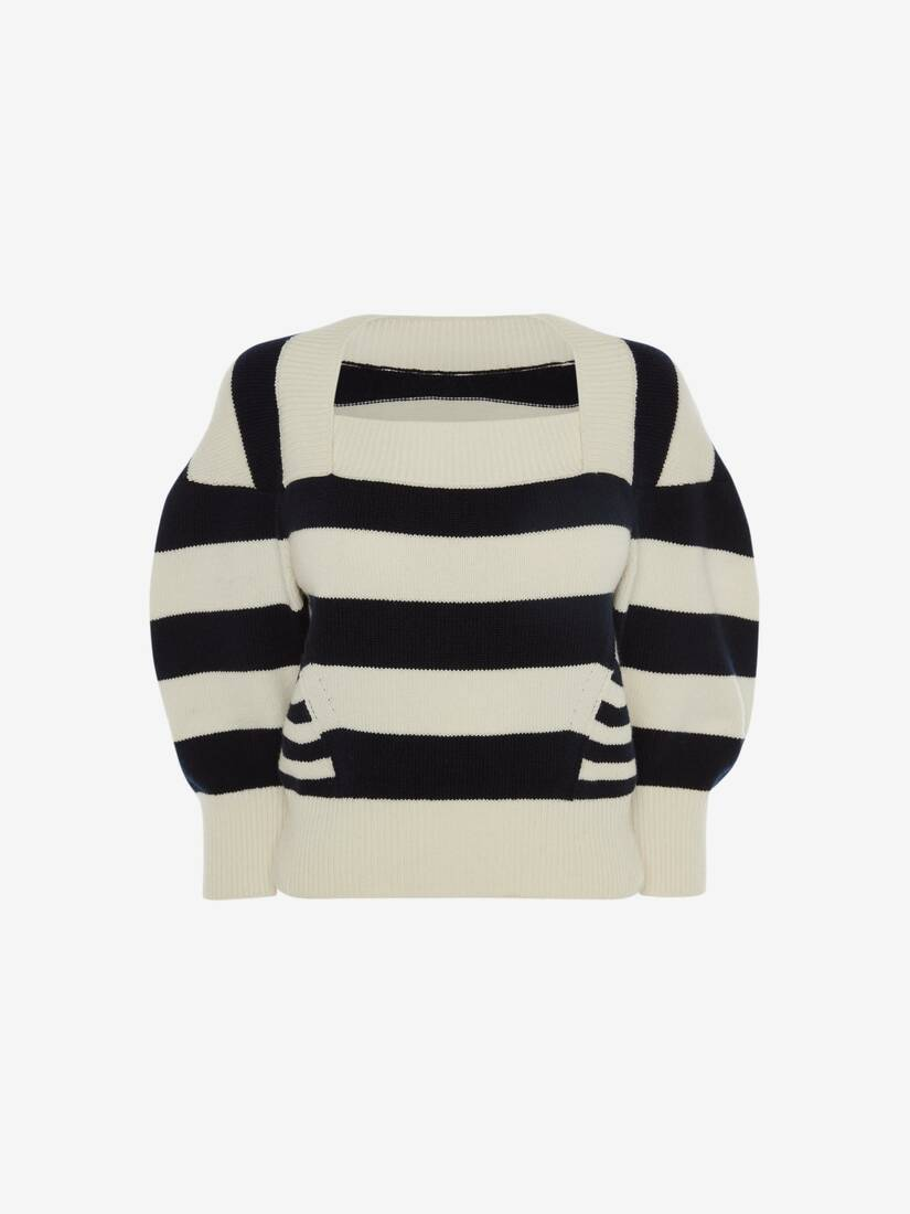 Patchwork Stipe Knitted Top