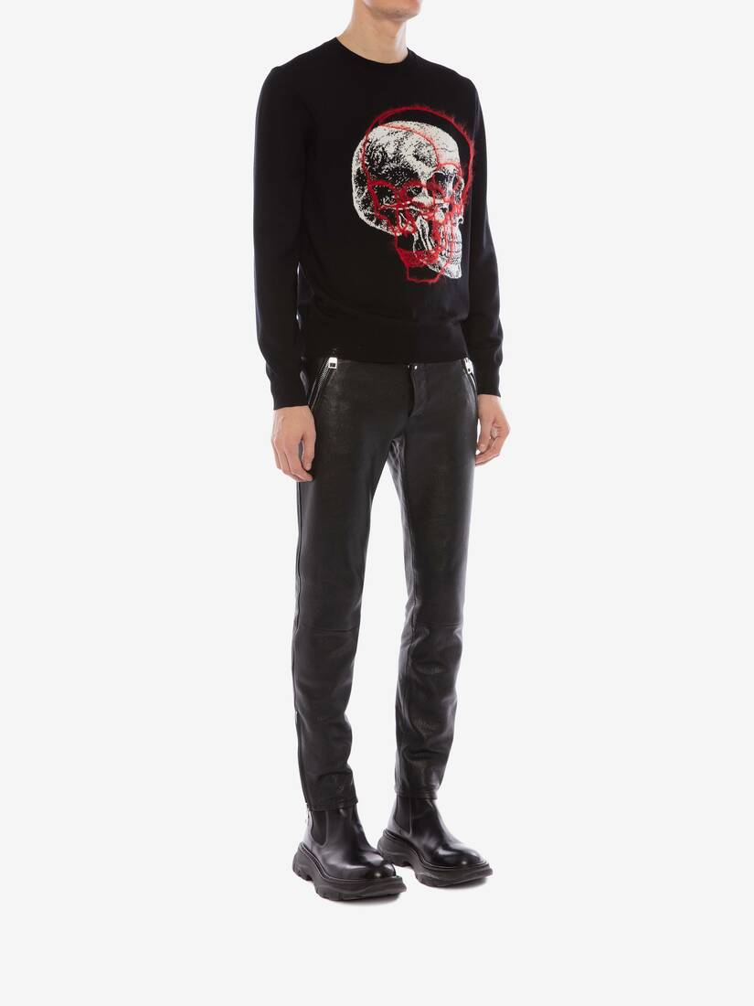 Display a large version of the product image 3 - Overlay Skull Crew Neck Jumper