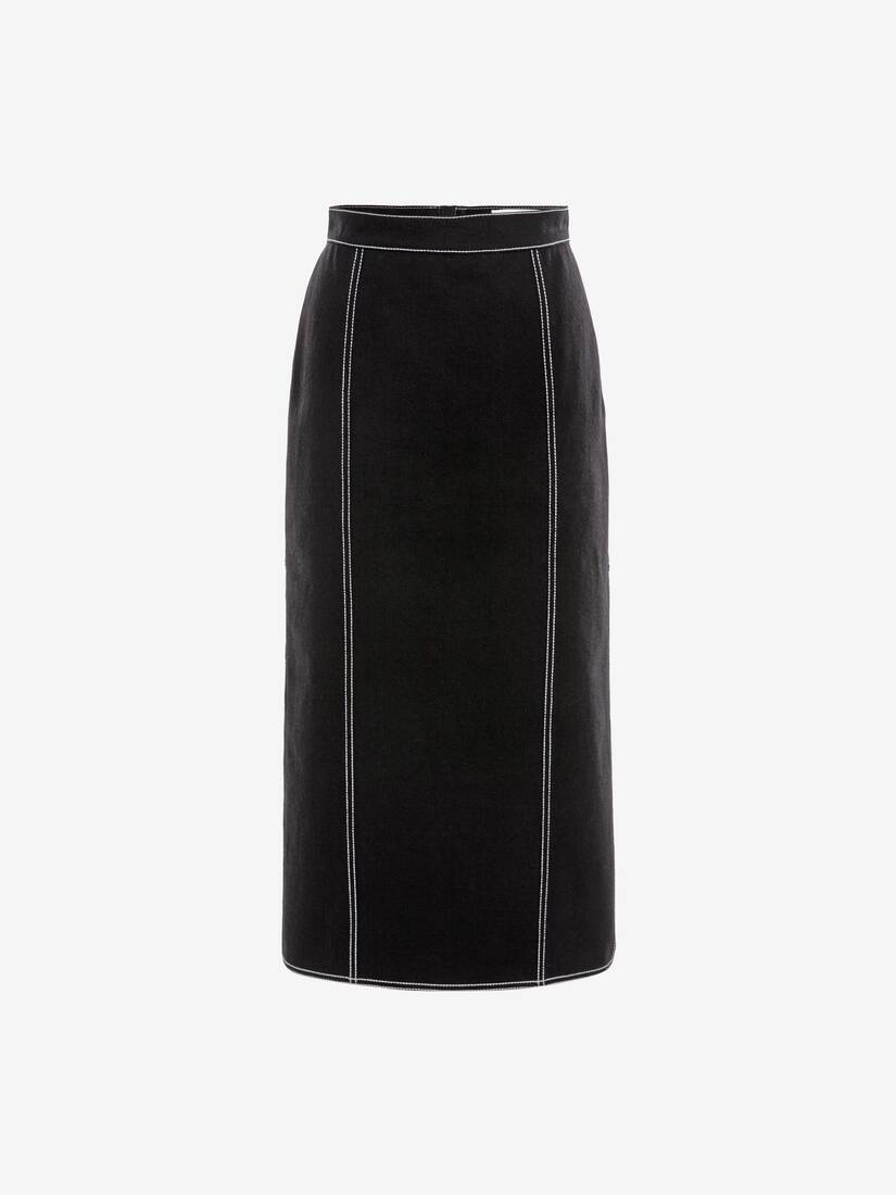 Display a large version of the product image 1 - Denim Midi Skirt