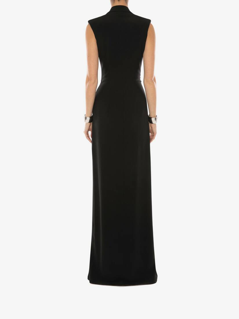 Display a large version of the product image 4 - Tuxedo Drape Evening Dress