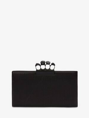 Skull Four-Ring Flat Pouch