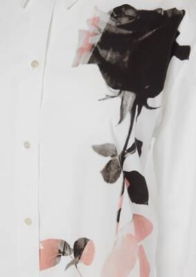 Rose Print Poplin Shirt
