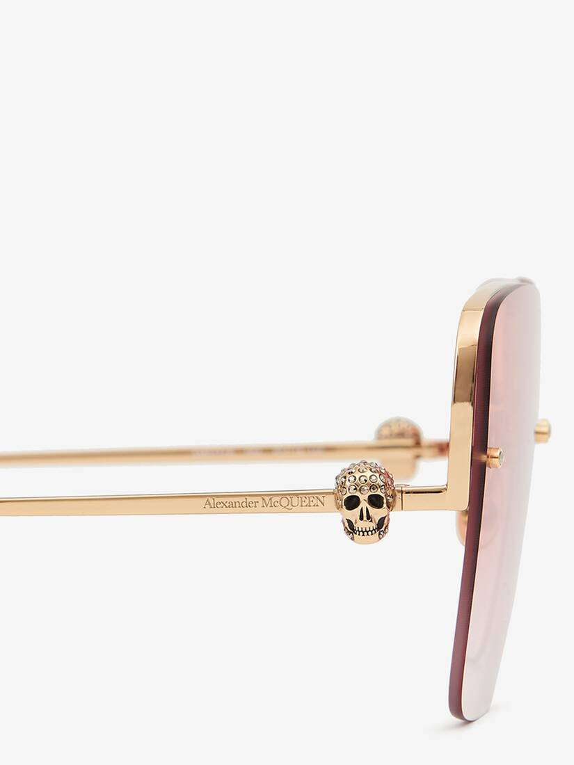 Display a large version of the product image 4 - Skull Jeweled Square Sunglasses