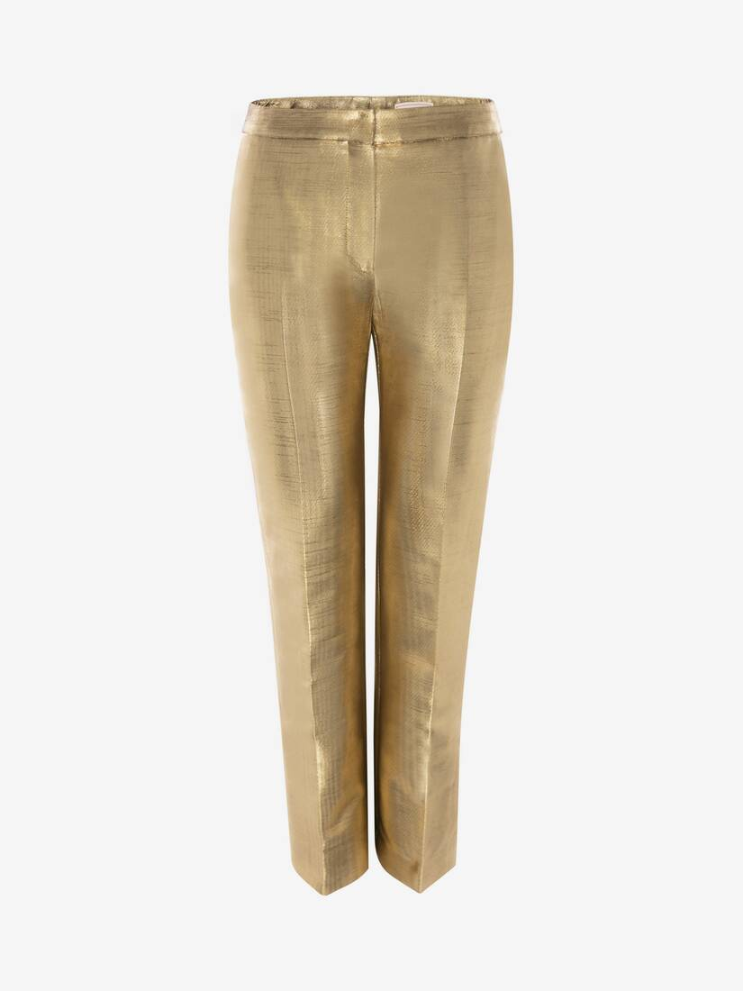 Display a large version of the product image 1 - Metallic Moiré Cigarette Trouser