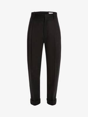 Herringbone Tailored  Peg Trousers