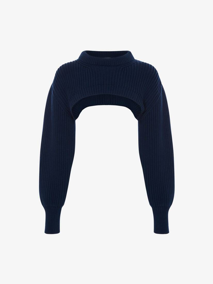 Cropped Knit Jumper