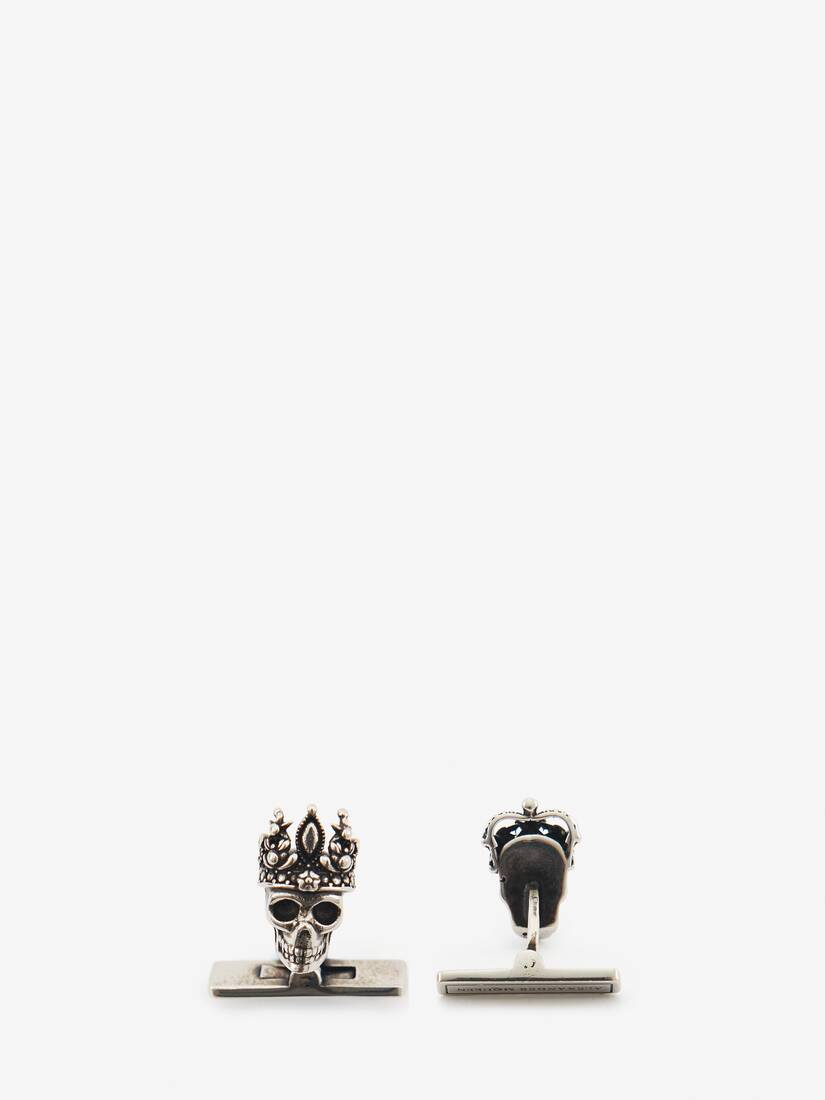 "Display a large version of the product image 2 - ""Queen and King"" Skull Cufflinks"