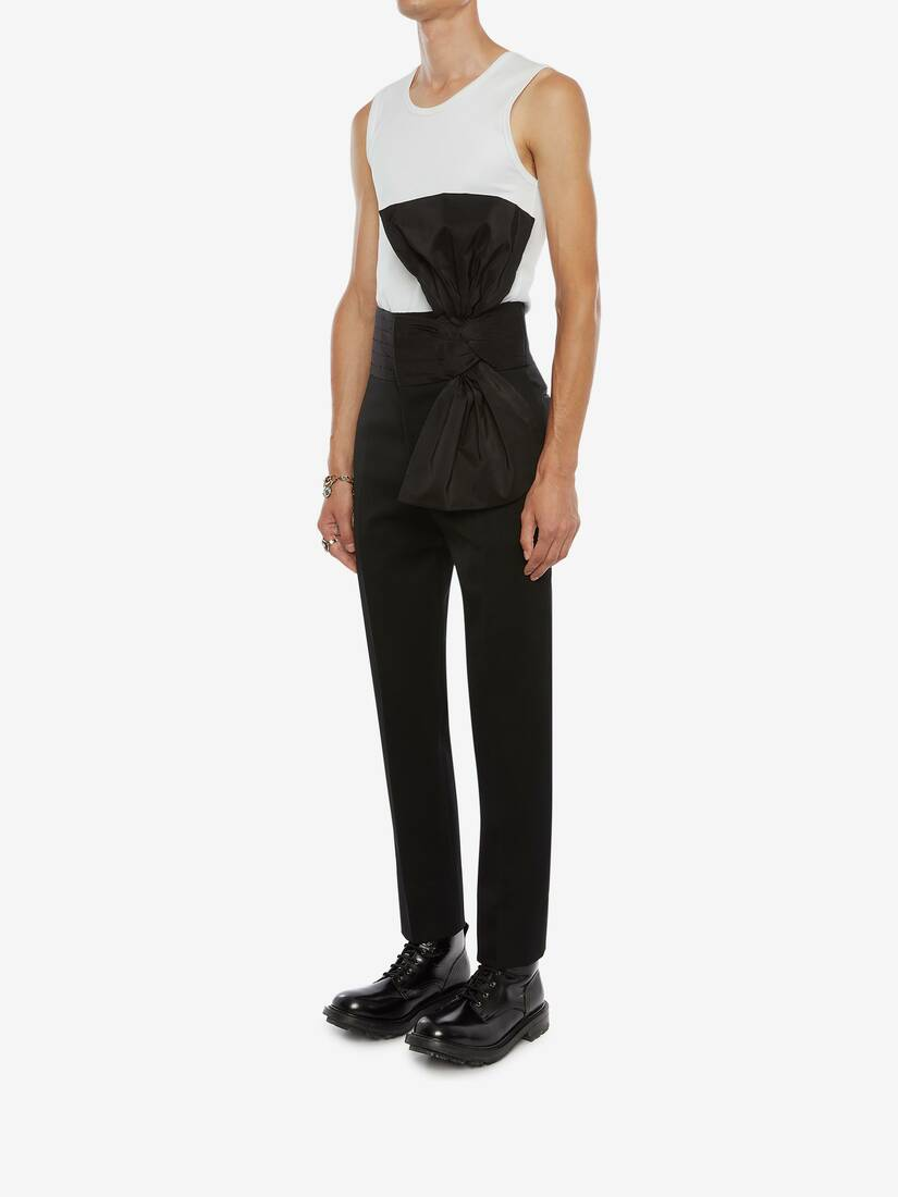 Exploded Bow Cigarette Trousers