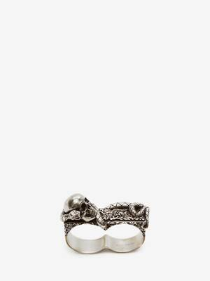 Skull and Snake Double Ring