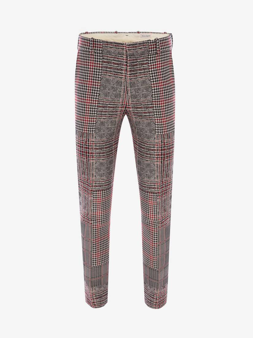 Display a large version of the product image 1 - Patchwork Prince of Wales Trousers