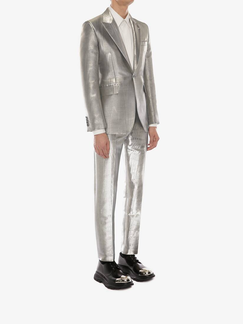 Display a large version of the product image 3 - Metallic Moiré Tuxedo Jacket