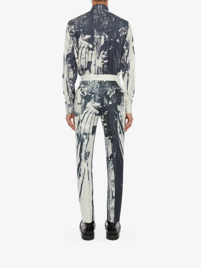 Display a large version of the product image 5 - Trompe-l'œil Printed Cigarette Trousers