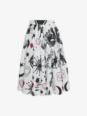 Papercut Circular Mini Skirt