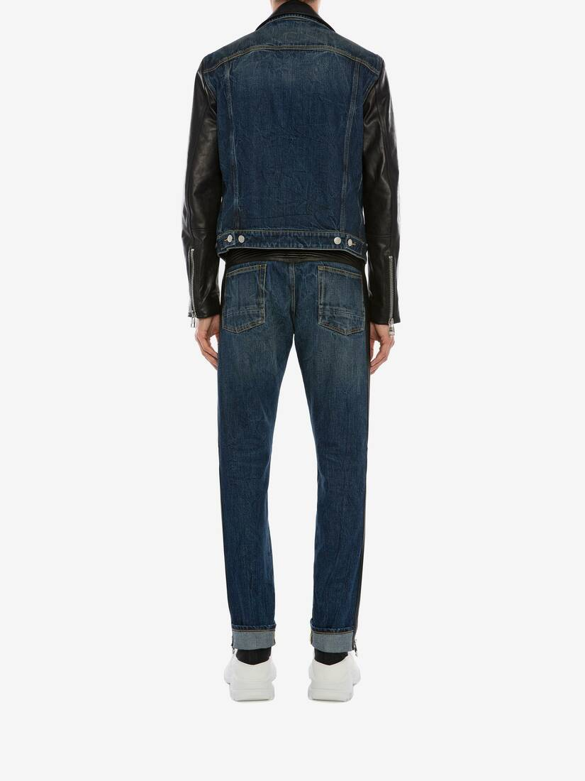 Display a large version of the product image 4 - Biker Denim Trousers