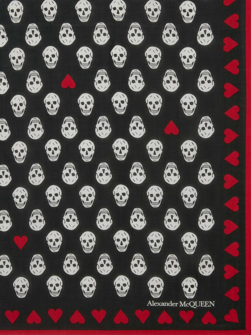 Display a large version of the product image 3 - Heart Biker Skull Scarf