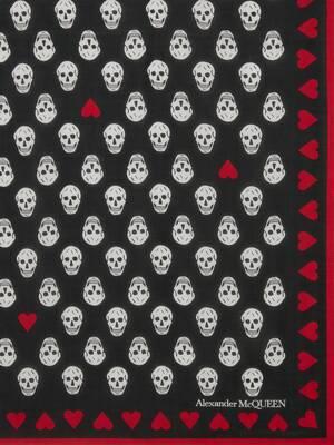 Écharpe Heart Biker Skull