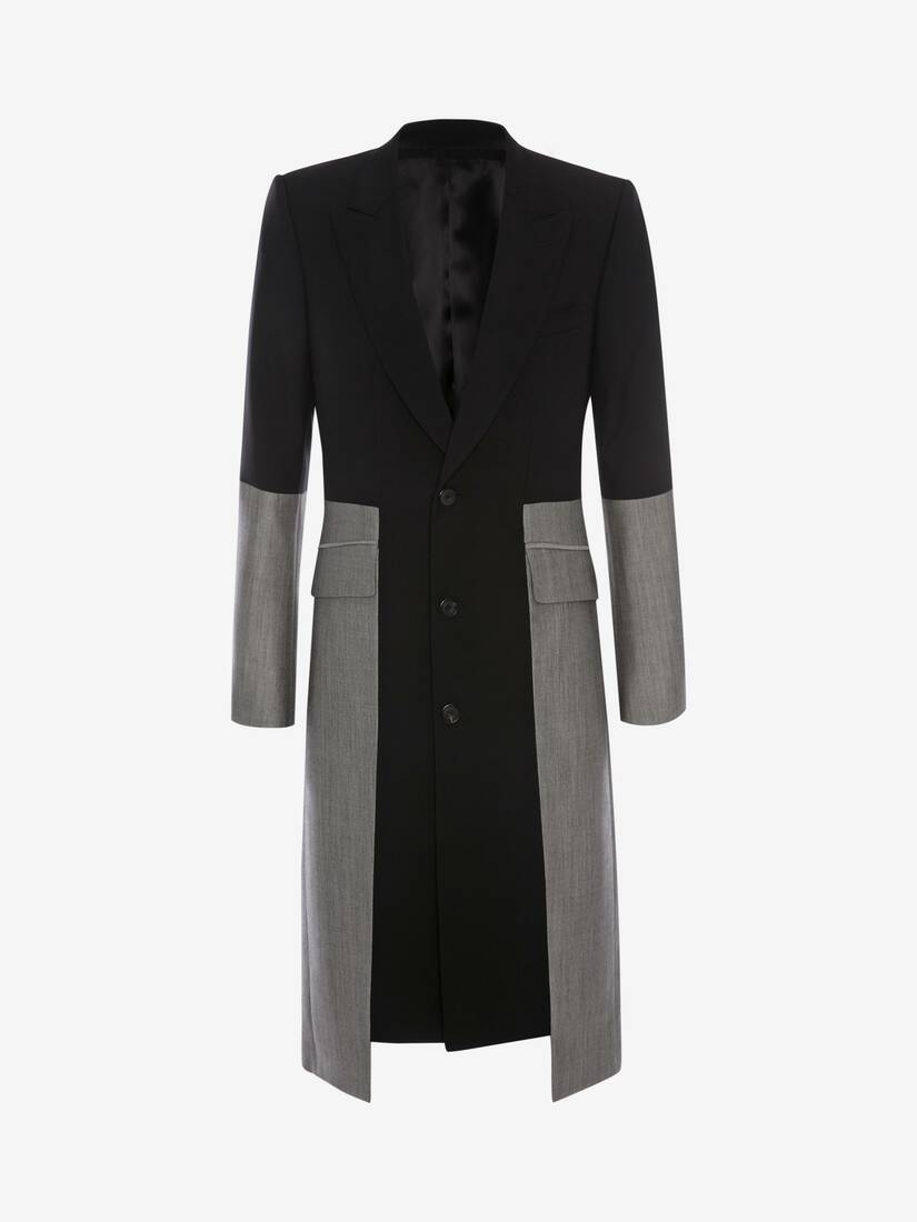 Display a large version of the product image 1 - Panelled Trompe L'œil Tailored Coat