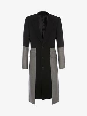 Paneled Trompe L'œil Tailored Coat