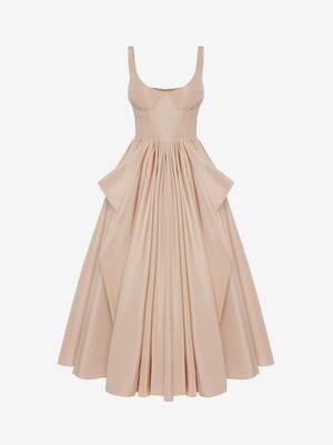 コルセット ボウ ドレープドレス