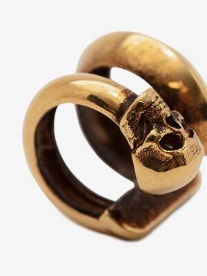 Skull Double Ear Cuff