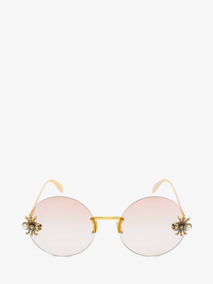 Display a large version of the product image 1 - Spider Jewelled Round Sunglasses